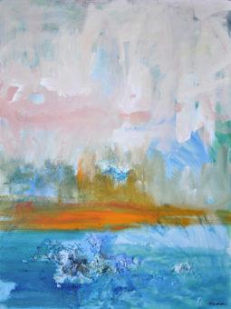 Heaven and Earth (2012) Kamran Nikravan 48 in. x 36 in. Mixed media & acrylic on Canvas