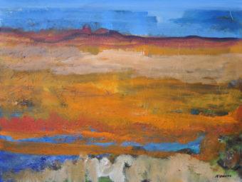 Mojave Oasis (2012) Kamran Nikravan 36 in. x 48 in. Acrylic on Canvas