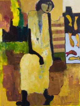 Spiritual Journey Goli Mahallati 40 in. x 30 in. Acrylic on canvas