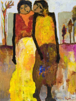 Whisper of Breeze Goli Mahallati 40 in. x 30 in. Acrylic on canvas