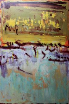 Untitled [1] (2013) Hossein Cheraghchi 60 in. x 40 in. Acrylic on canvas