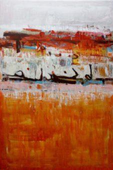 Untitled [3] (2013) Hossein Cheraghchi 60 in. x 40 in. Acrylic on canvas