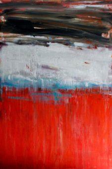 Untitled [A] (2013) Hossein Cheraghchi 60 in. x 40 in. Acrylic on canvas