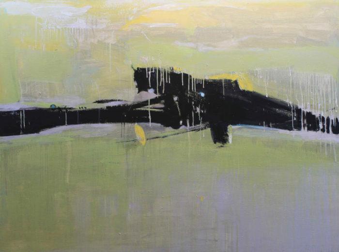 Untitled [4] (2013) Hossein Cheraghchi 48 in. x 64 in. Acrylic on canvas