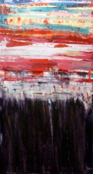 Untitled [C] (2013) Hossein Cheraghchi 60 in. x 32 in. Acrylic on canvas