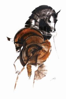 Horse 8 (2013) Fariba Bahrami 48 in. x 32 in. Oil on canvas