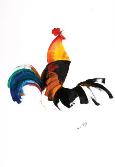 Rooster 11 (2013) Fariba Bahrami 40 in. x 28 in. Oil on canvas