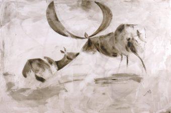 Deer 1 (2013) Fariba Bahrami 48 in. x 32 in. Oil on canvas