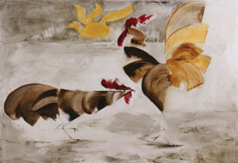 Rooster 5 (2013) Fariba Bahrami 28 in. x 40 in. Oil on canvas