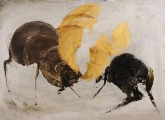 Deer 4 (2013) Fariba Bahrami 24 in. x 32 in. Oil on canvas