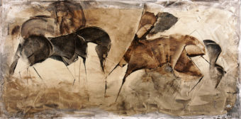 Horse 7 (2013) Fariba Bahrami 40 in. x 20 in. Oil on canvas