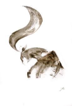 Deer 2 (2013) Fariba Bahrami 40 in. x 32 in. Oil on canvas
