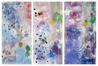Karun River 1, 2, 3 [Triptych] (2011) Bayesteh Ghaffary each piece 29 in. x 19 in. [framed] Monotype+intaglio ink on archival paper