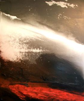 1 (2011) Mostafa Dashti 88.00 in. x 72.50 in. [framed] Acrylic on canvas