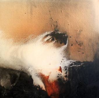 2 (2007) Mostafa Dashti 63.50 in. x 63.25 in. [framed] Acrylic on canvas