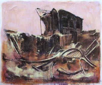 Ruins (2010) Amirhossein Zanjani 40 in. x 48 in. Acrylic on canvas