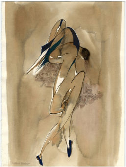 Body (2004) Mehri Dadgar 15 in. x 11 in. Watercolor + ink on paper