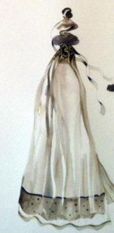 Garment as Luxury not Veil (2011) Mehri Dadgar 30 in. x 23 in. Watercolor, gouache+gold leaf on paper