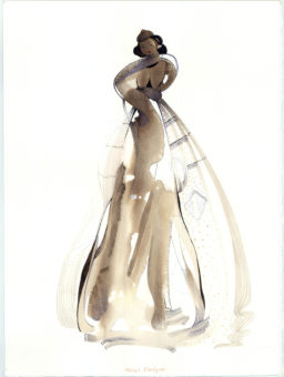 Mongolian Woman (2010) Mehri Dadgar 15 in. x 11 in. Watercolor, gouache + ink on paper
