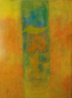 Happy Sigh 2 (2012) Shahla Etedali 40 in. x 30 in. Acrylic on canvas