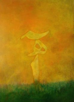 Happy Sigh 1 (2012) Shahla Etedali 40 in. x 30 in. Acrylic on canvas