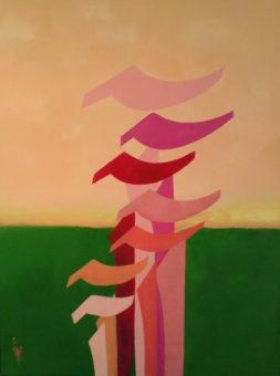 Four Seasons of Alef - Spring (2014) Shahla Etedali 40 in. x 30 in. Acrylic on canvas