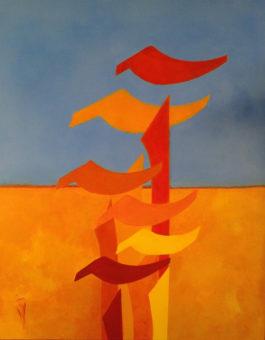 Four Seasons of Alef - Summer (2014) Shahla Etedali 40 in. x 30 in. Acrylic on canvas