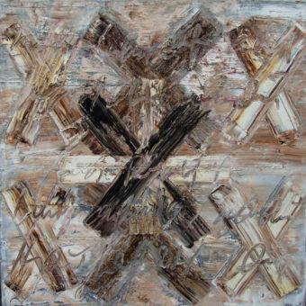Calligraphy 6 (2010) Fereydoun Omidi 40 in. x 40 in. Oil on canvas