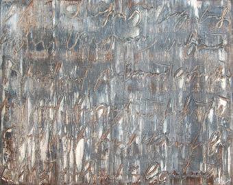 Calligraphy 1 (2010) Fereydoun Omidi 48 in. x 60 in. Oil on canvas