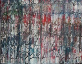Calligraphy 5 (2010) Fereydoun Omidi 48 in. x 60 in. Oil on canvas