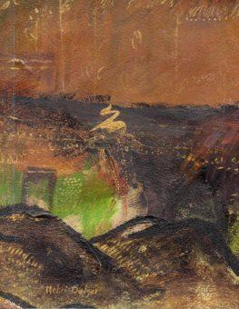 Past II (2003) Mehri Dadgar 8 in. x 10 in. watercolor + acrylic on paper