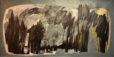 Untitled [1] (2014) Hossein Khosrojerdi 47 in. x 86 in. Mixed media on cardboard