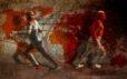 Keshesh (2009) Hossein Khosrojerdi 38 in. x 62 in. Digital painting on canvas