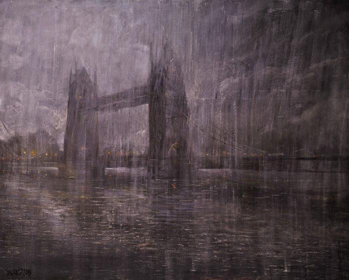 London Bridge (2012) Hossein Khosrojerdi 47.5 in. x 59.5 in. Oil on canvas