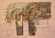 Rabeteh (2014) Hossein Khosrojerdi 17.5 in. x 21.5 in. Acrylic + pen on paper