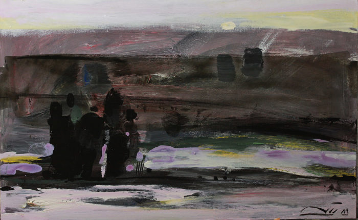 By the Atrak River (2010) Ahmad Vakili 16.50 in. x 24.50 in. Acrylic on canvas