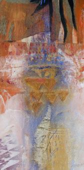 Pluie d'été (Summer Rain), 2004 Chahab 48 in. x 24 in. Acrylic + pigment + mineral on hardboard