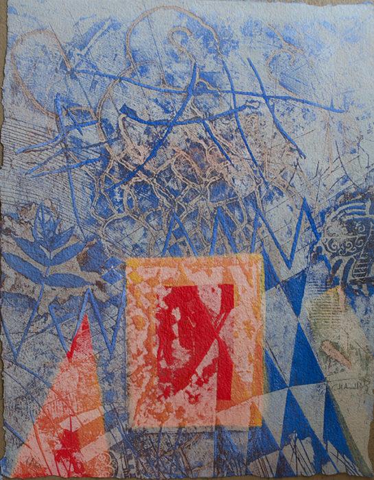 La Fenêtre et le Frêne (1996) Chahab 26 in. x 20 in. Etching