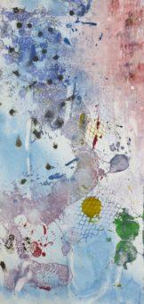 Karun River 1 [Triptych] (2011) Bayesteh Ghaffary each piece 29 in. x 19 in. [framed] Monotype+intaglio ink on archival paper