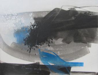 Fleur du mal [3] (2012) Maryam Mirzaee 52 in. x 40 in. Acrylic on canvas