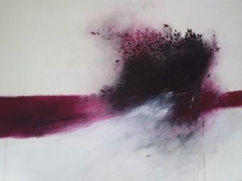 Fleur du mal [2] (2012) Maryam Mirzaee 52 in. x 72 in. Acrylic on canvas