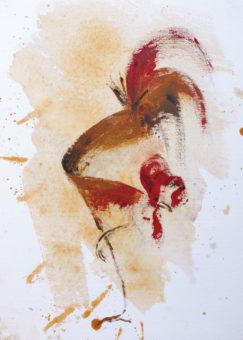 Untitled [5] (2015) Fariba Bahrami 16 in. x 12 in. Oil on canvas