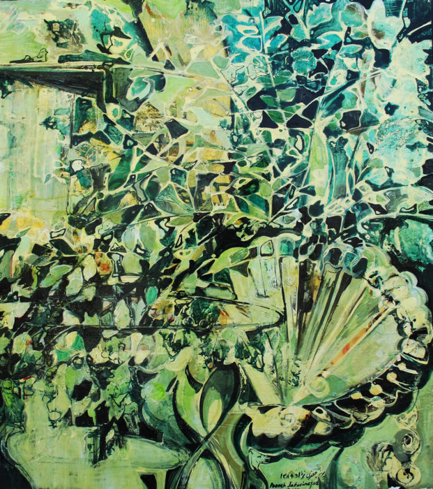 Memories of Childhood Garden (2014) Pooneh Jafarinejad 36 in. x 24 in. Acrylic on canvas