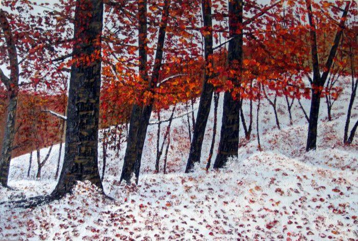 Winter (2014) Mahvash Joorabchi 48 in. x 32 in. Oil on canvas