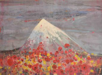 Damavand (2016) Shaho Babaie 56 in. x 76 in. Mixed media on canvas