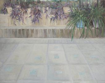 Garden Corners 1  (2015) Mina Ghaziany 52 in. x 66 in. oil on canvas