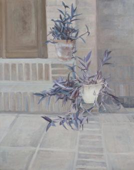 Garden Corners 2  (2015) Mina Ghaziany 60 in. x 52 in. oil on canvas