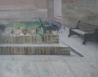 Garden Corners 6  (2015) Mina Ghaziany 52 in. x 66 in. oil on canvas