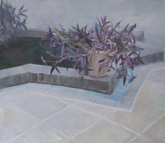 Garden Corners 7  (2015) Mina Ghaziany 52 in. x 60 in. oil on canvas