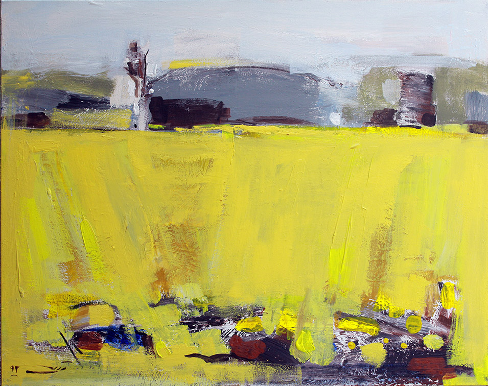Scent of Wheat (2014) Ahmad Vakili 32 in. x 40 in. Acrylic on canvas